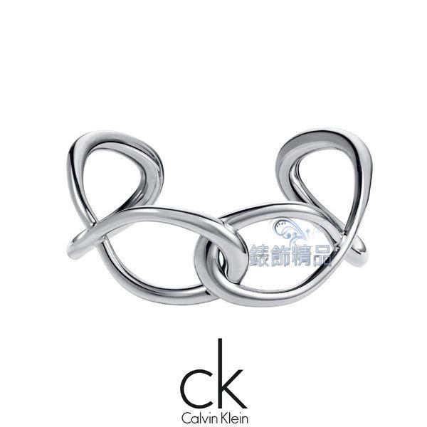 【錶飾精品】Calvin Klein CK JEWELRY/CK飾品/ck開口式手環-纏繞系列/316L白鋼 KJ44BB0101 全新原廠正品