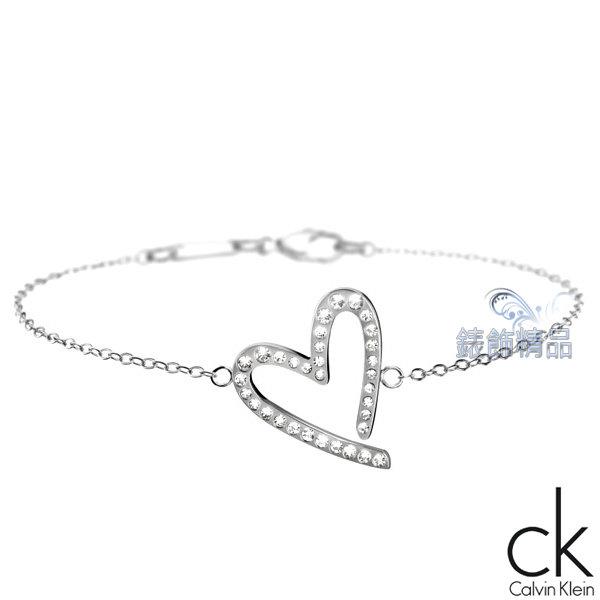 【錶飾精品】Calvin Klein CK飾品 ck女性手鍊joyous歡愉系列316L白鋼 KJ2XWB040100-鑲鑽 生日情人禮物 禮品