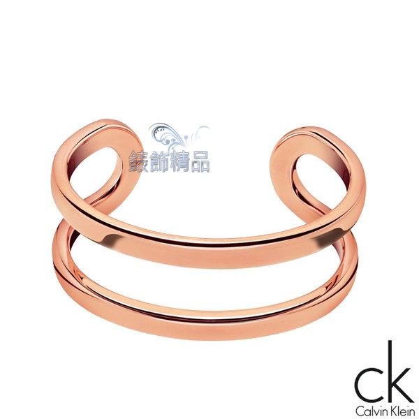 【錶飾精品】Calvin Klein CK飾品 ck女性手環return呼應系列-玫瑰金316L白鋼 KJ0ZPF0001 全新原廠正品 禮物