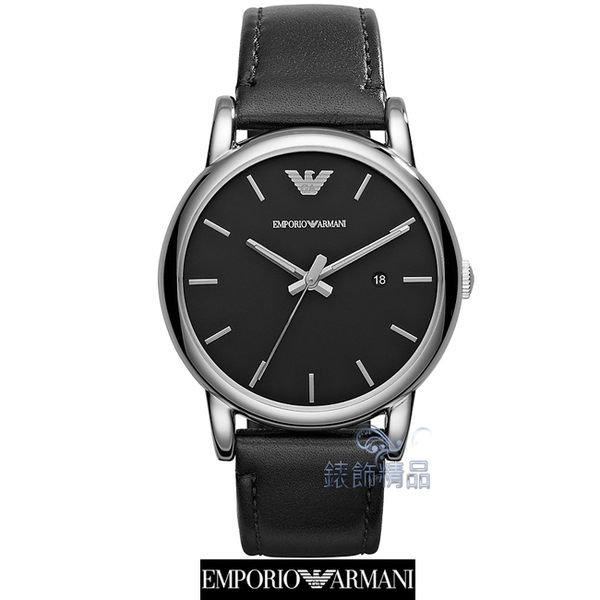 【錶飾精品】ARMANI手錶/ARMANI錶/亞曼尼表 日期 黑面黑皮帶男表AR1692全新原廠正品