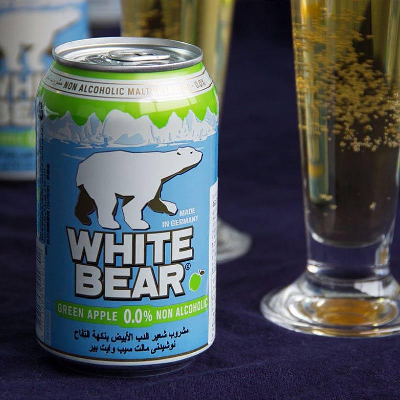 〖吃貨人〗【阿拉認證】WHITE BEAR德國熊青蘋果白麥汁(單罐/24入)