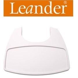 【安琪兒】丹麥【Leander】高腳餐椅配件-餐盤(白色)需要搭配二代護欄才能使用