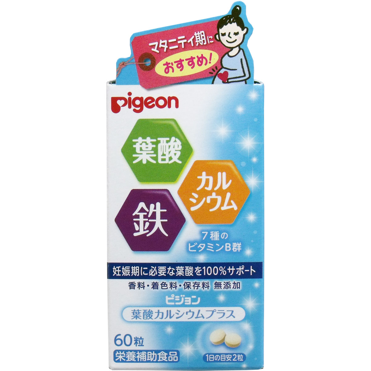 日本pigeon 貝親 葉酸 加鐵加鈣維他命B群 30日份