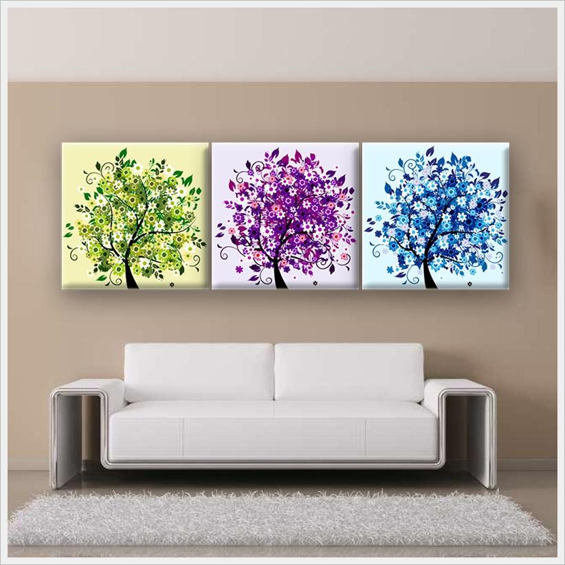 【飾季藝術】《無框畫-彩樹林》油畫無框畫版畫掛畫佈置裝潢室內設計師套房壁貼
