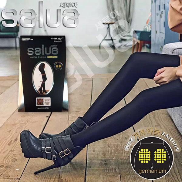 韓國正品 salua 溶脂 瘦腿襪 褲襪 鍺元素 暖宮 顆粒 顯瘦 正韓