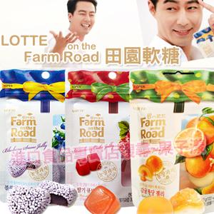 *即期促銷價*韓國樂天 田園水果軟糖 草莓/藍莓/橘子/蕃茄/葡萄 [KR162]