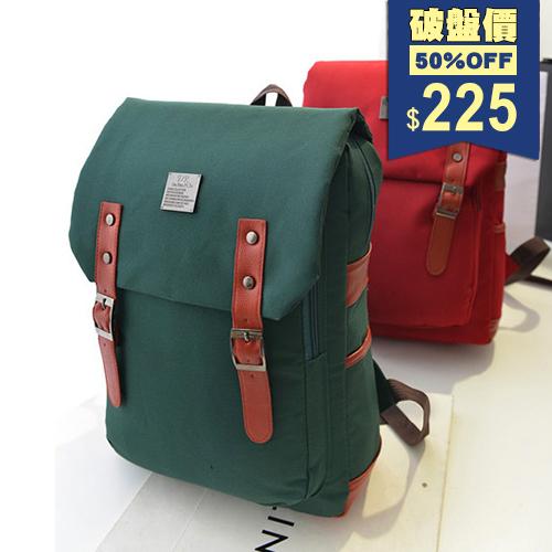 後背包-英倫復古學院風電腦休閒帆布包 包飾衣院 P1663 現貨+預購