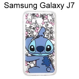 迪士尼空壓透明軟殼 [主題] 史迪奇 三星 J700F Galaxy J7【Disney正版授權】