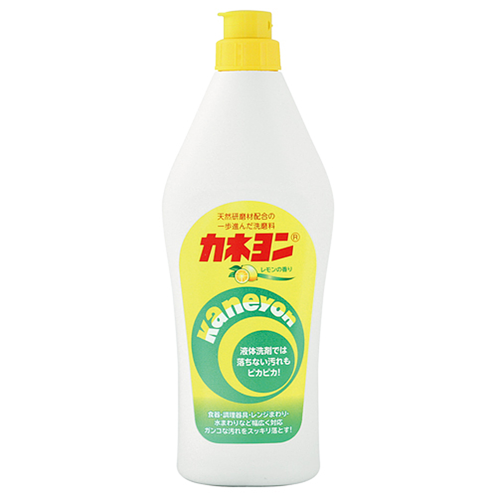 日本 KANEYO 廚房/浴室萬用清潔劑-檸檬 550g / 洗碗精 餐具 浴缸 瓦斯爐