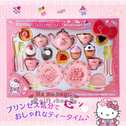 〔小禮堂〕Hello Kitty 下午茶點心玩具組《粉.茶壺.杯子蛋糕》適合三歲以上孩童