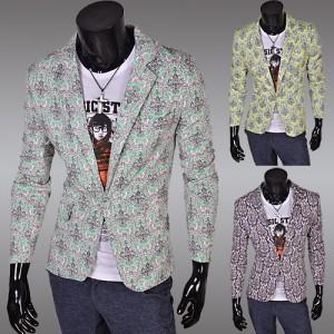 碎花紋 單鈕扣 休閒時尚 西裝外套 十天預購