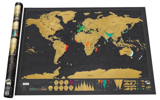 世界旅遊旅行刮刮地圖/刮地圖創意禮品 十天預購