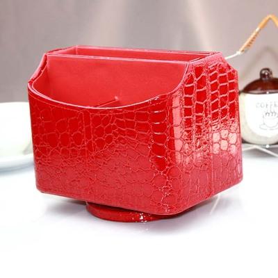 旋轉化妝盒鱷魚紋桌面收納盒 十天預購