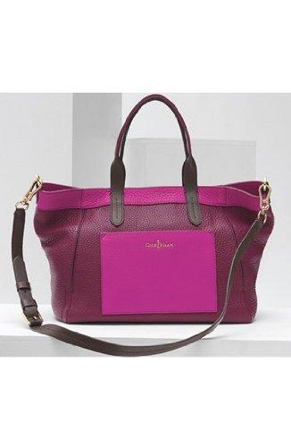 [美國精品櫥窗]Cole Haan Crosby Colorblock Small Shopper正品 真皮 女精品 兩色印染托特包(桃/紫)