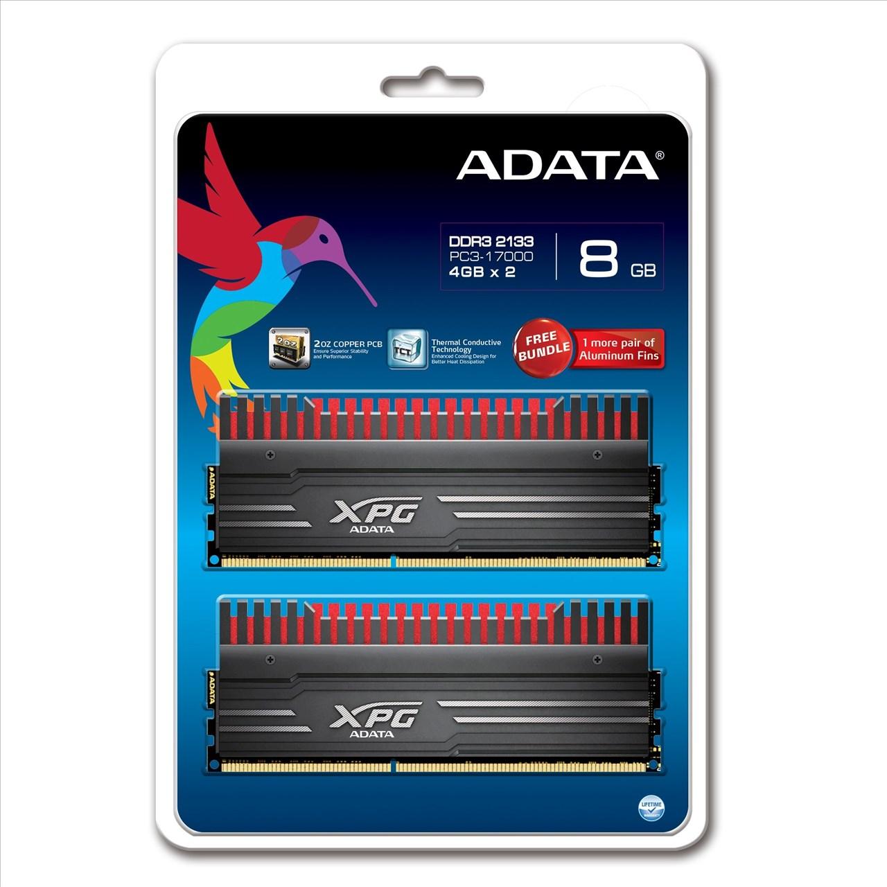 *╯新風尚潮流╭*威剛 XPG V3 超頻 8G DDR3-2133 10-11-11-30 AX3U2133W4G10-DBV-RG