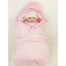 珊瑚絨可脫內膽寶寶抱被 嬰兒睡袋 抱毯新生兒包被 加大加厚-7701002
