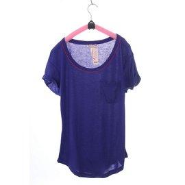 歐美原單女生睡衣家居服 T-shirt 加睡褲(藍)7001003