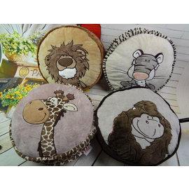 猴子 獅子 鹿 抱枕--可當坐墊35*35*12cm-7101001