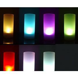 七彩可變色安全聲控蠟燭燈一吹亮再吹滅LED電子蠟燭-5601007