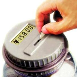 時光罐頭存錢罐會自動計數智慧水桶存錢罐 現貨 超大鐵皮存錢罐-7201007