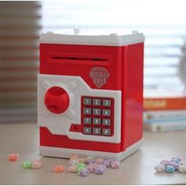 特別密碼箱儲錢罐創意儲蓄罐 自動卷幣atm存錢罐 存取款機-7201007