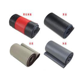 運動款紅黑真皮方向盤套手縫汽車把套-DIY款(多款車型可用) -5201005