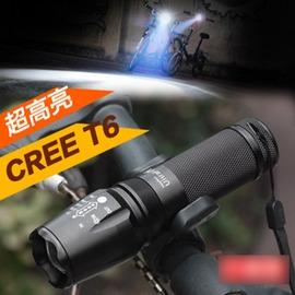【手電筒-A030-1】T6手電筒強光超亮自行車車前燈可充電(豪華充電套裝)-5501001
