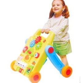 早教益智健身玩具二合一(多功能手推學步車/音樂遊戲桌)-7701005