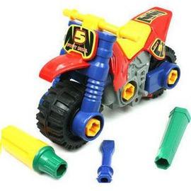 兒童玩具益智 培養組裝能力 鍛煉邏輯思維 拆裝摩托車-7701005