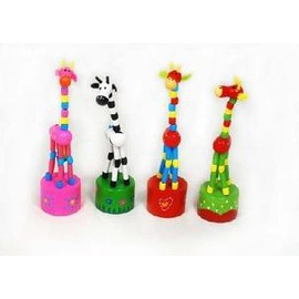 兒童益智玩具 早教木制玩具 搖滾長頸鹿-7701005