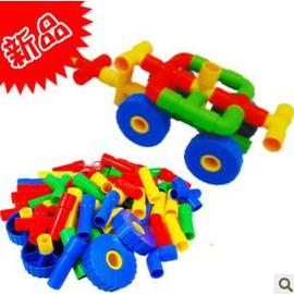 兒童益智玩具 新淘氣堡積木塑膠積木 拼插玩具-7701005