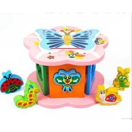 兒童益智玩具 邏輯迷題動物木質形狀智力顏色認知配對玩具-7701005