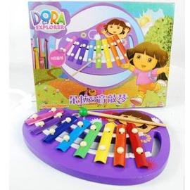 新品朵拉八音敲琴音樂玩具 寶寶手敲琴木琴兒童益智玩具1-3歲-7701005
