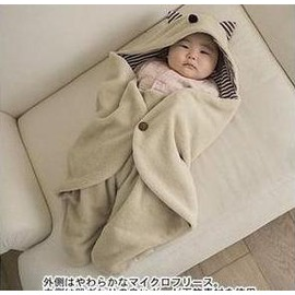 嬰兒抱毯 小魔怪多功能外出抱被/造型睡袋推車專用保暖睡袋/包巾(加棉)-7701007