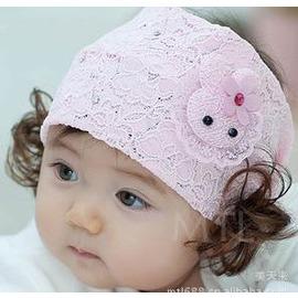 韓版假髮兒童發帶女寶寶嬰兒頭帶小兔裝飾品0-1-2-3歲夏季春秋季-7701007