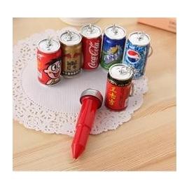 韓國文具 小清新 可愛卡通 伸縮圓珠筆 創意 易開罐飲料 啤酒造型(10入裝)-5801003