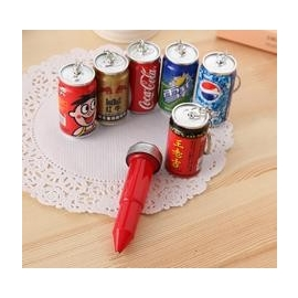 韓國文具 小清新 可愛卡通 伸縮圓珠筆 創意 易開罐飲料 啤酒造型-5801003