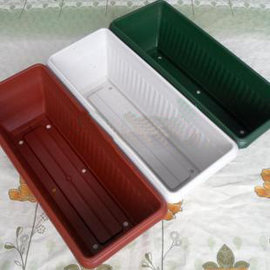 【AU500長條盆-49x20x15cm】 長方形花盆 花槽 種菜盆-5101002
