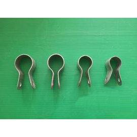 【夾箍-6分管(25管)】溫室大棚配件 夾箍 熱鍍鋅鋼板沖製成形 適用6分管(25mm)管,40個/包-5101005