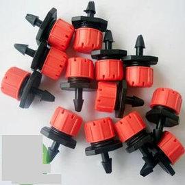 【霧化噴頭-可調滴頭-B3】可調滴頭 滴頭滴灌 噴灌 微噴頭,配合4/7毛管 PE管 可關閉,30個/包-5101003