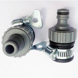 【萬能接頭-緊箍式】非螺紋式水龍頭接頭 微噴滴灌配件 水管接頭,2個/組-5101003