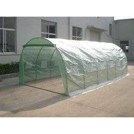 【小型溫室-加強版-圓頂-綠色12個窗-600*300*200cm-1套/組】溫室暖房花房菜園屋頂種菜 可海運-5101013