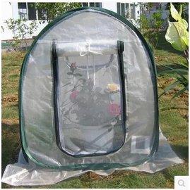 【小型溫室-自動彈力-弧頂-61*61*71cm-1套/組】折疊(一開就撐起)屋頂陽臺花園種菜保溫棚保溫罩-5101013