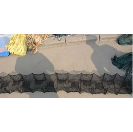 【折疊網-20米-框架35*38cm-1個/組】折疊魚網蝦籠蝦網 龍蝦籠 捕魚籠 捕蝦網 抓蟹籠 地籠 漁網漁具-5101015