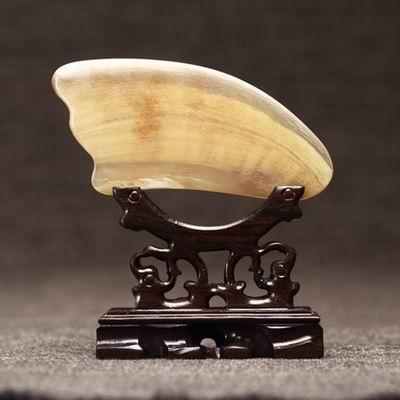 【黃牛角刮痧板-三角型(簡裝)-12*8*1cm-1款/組】牛角刮痧片美容刮痧板(不含木架)-30011