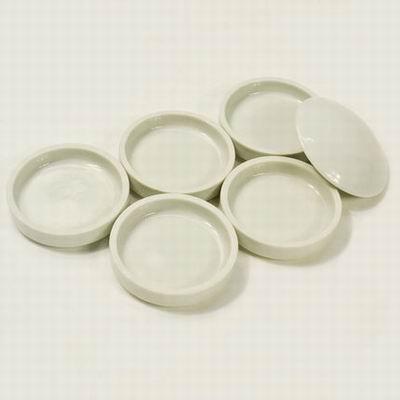 【國畫調色盤-陶瓷-5層+蓋-7.5*7.5cm-6件/套-1套/組】5層套色碟 顏料盤 國畫顏料碟 調色碟文房四寶陶瓷製品-30034