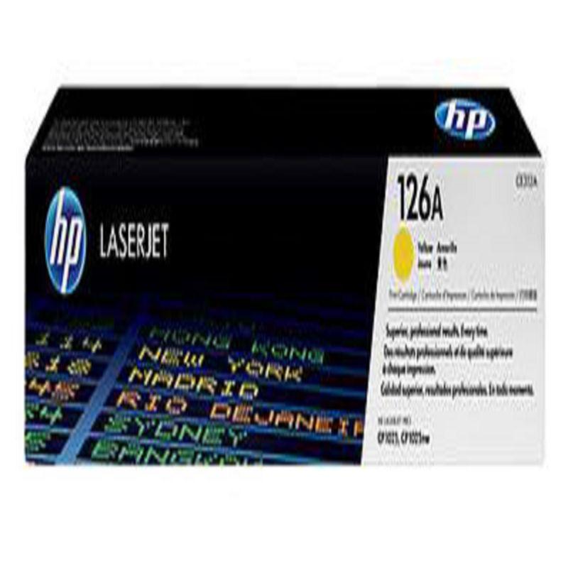 【原裝正品 惠普硒鼓126A CE312A 黃色粉盒 粉倉-1個/組】適用於 HP CP1025 M175a-586001