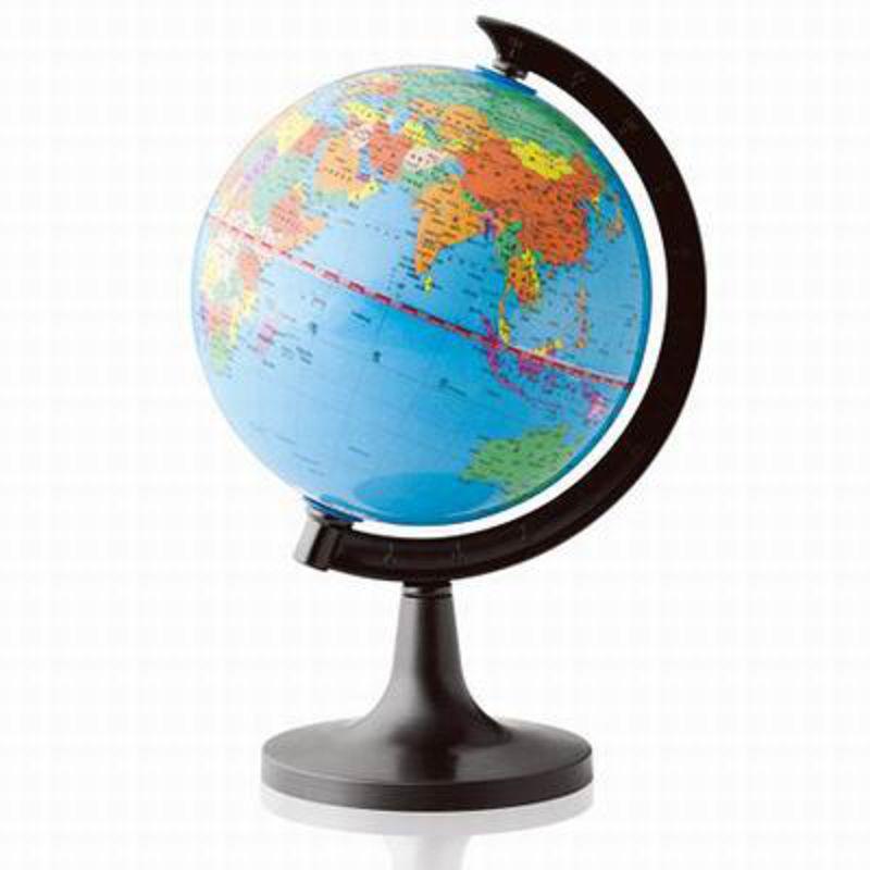 【全塑地球儀-3032-直徑14.2cm-23*16.2*14.2cm-1套/組】行政辦公學生地理教學用品-586003