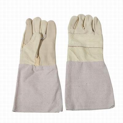 【電焊牛皮帆布手套-008-2雙/組】電焊作業防護手套防割手套工作電焊工防燙手套-586039