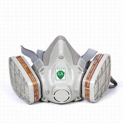 【自吸式防毒面具-2011D-1套/組】自吸式噴漆防護防毒面具防有機氣體罩體可洗濾盒可換-586039